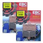 "SPEED TRIPLE 1050 05-07 EBC Front Brake Pads ""Full Front Set"" 2 Pairs FA347HH"